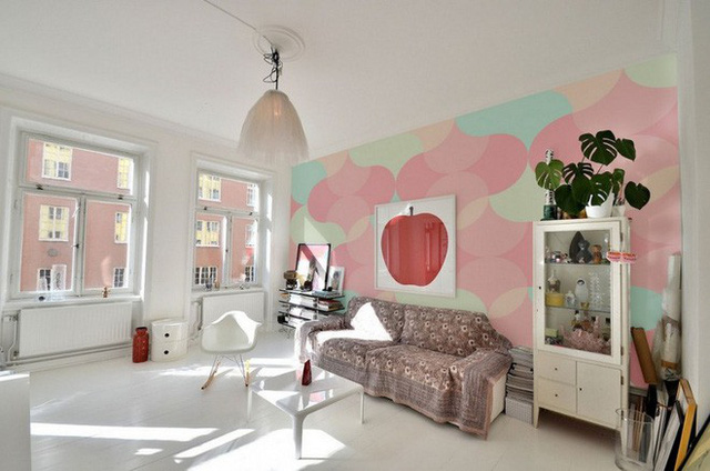 Đặc biệt, gam màu pastel này rất thích hợp dùng trong thiết kế, trang trí phòng phái nữ.
