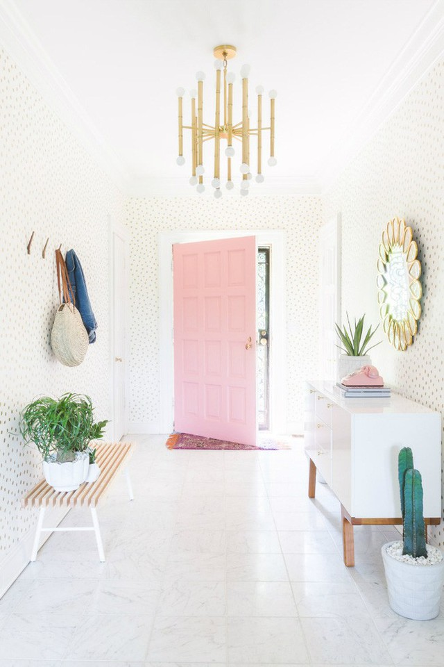 Hồng pastel mang đến vẻ đẹp ngọt ngào, nữ tính cho không gian căn hộ mà bạn có thể bắt gặp ở bất kì đâu.