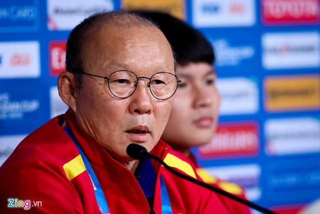 Huấn luyện viên Park Hang-seo của đội tuyển Việt Nam. Ảnh: Minh Chiến.