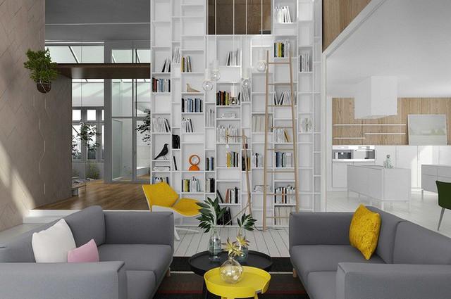 Hồng, vàng, xanh lá cây và màu cam chỉ là một vài trong số nhiều điểm nhấn đầy màu sắc của căn hộ này. Trong khi đó những cây xanh nhỏ được đặt tự nhiên tại bàn mà không hề gây chướng mắt.