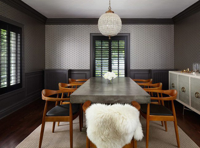 Chẳng cần cầu kỳ, bạn chỉ cần khéo léo sắp xếp là đã có được một căn phòng ăn hoàn hảo như thế này rồi.
