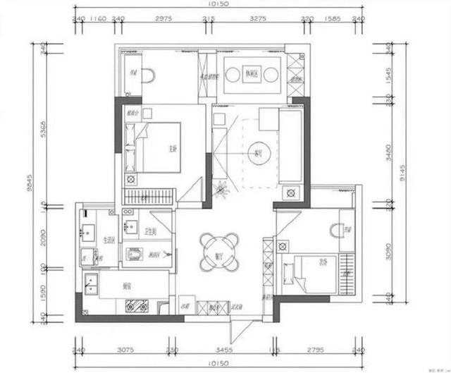 Bản vẽ thiết kế chi tiết của căn hộ.