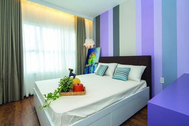 Gam màu trung tính được sử dụng ở các phòng ngủ để tạo điểm nhấn.