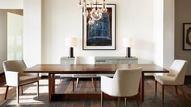 Lựa chọn những bộ bàn tối giản cũng giúp quá trình lau chùi, làm sạch bàn ăn hàng ngày dễ dàng hơn.