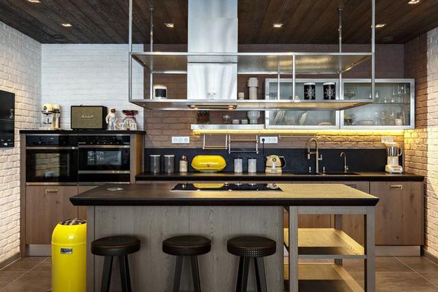 Một căn bếp mang phong cách công nghiệp không thể nào thiếu đi những món đồ được làm từ chất liệu kim loại như đồng, sắt hay thép chống gỉ.