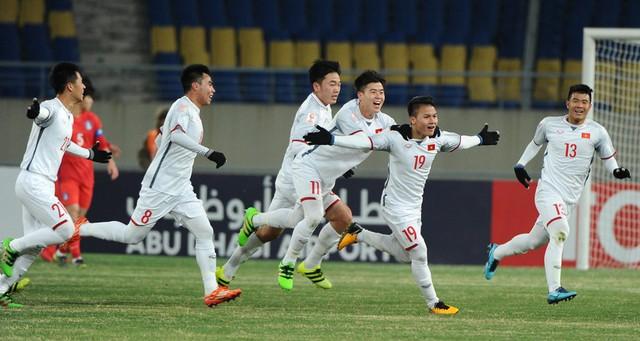 Cầu thủ Quang Hải ghi bàn thắng vào lưới đội tuyển U23 Hàn Quốc trong trận đấu đầu tiên tại vòng chung kết U23 Châu Á (1/2018). Ảnh: AFC