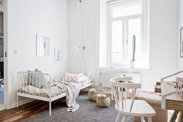 Phong cách Scandinavian góp phần mang đến những không gian riêng cho trẻ vô cùng hấp dẫn.