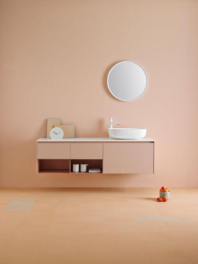 Đôi khi bạn nhận thấy rằng phong cách tối giản cũng vô cùng cuốn hút với không gian nhà tắm.