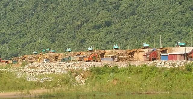 Khai trường khai thác mỏ vàng của doanh nghiệp được tỉnh Thái Nguyên giao mỏ. (ảnh: HC)
