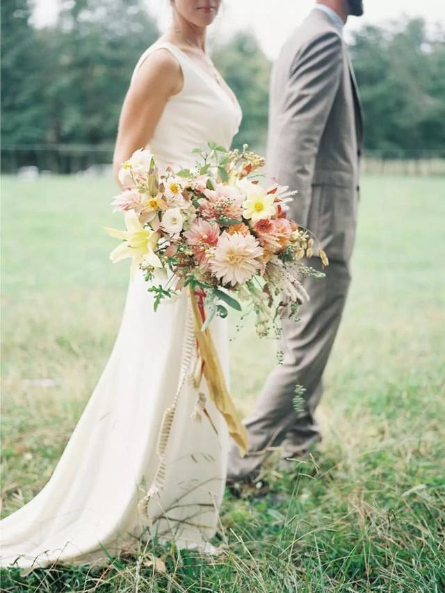 Những bó hoa ngọt ngào dành cho cô dâu trong ngày trọng đại.