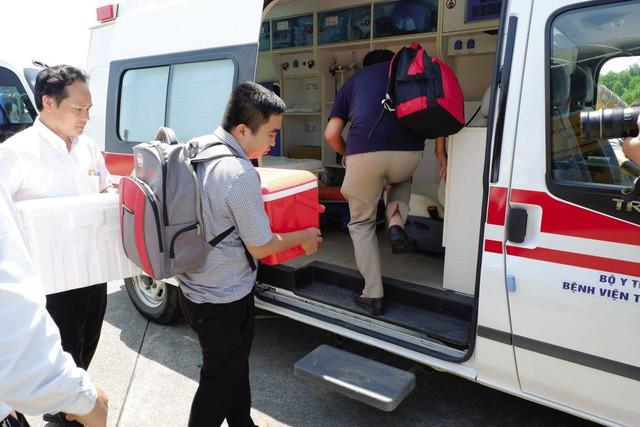 Trái tim của anh Nguyễn Ngọc Khiêm từ Hà Nội được khẩn cấp vào Bệnh viện Trung ương Huế.Ảnh: TL