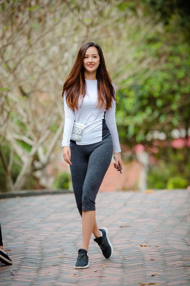 """Hoa hậu Mai Phương Thúy trong chiến dịch chạy marathon gây quỹ"""" Phẫu thuật nụ cười cho những trẻ embị dị tật trên khuôn mặt"""". Ảnh: NVCC"""