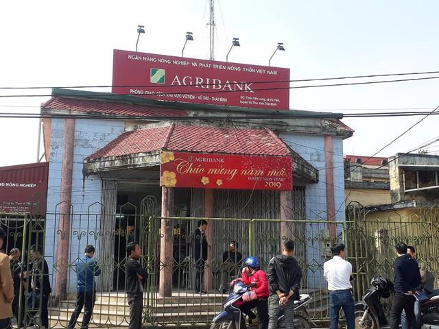 Khu vực phòng giao dịch Ngân hàng Agribank Chi nhành Vũ Tiến