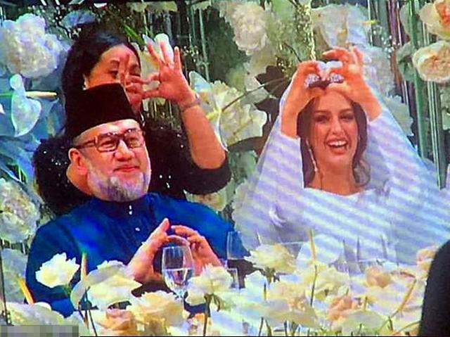 Hôn lễ của Muhammad V và Oksana ở ngoại ô Moskva hồi tháng 11/2018. Ảnh: Carters News Agency.