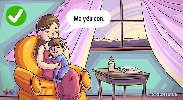 """""""Bố/ mẹ yêu con!"""" là 3 từ thần kỳ đối với sự phát triển tích cực của trẻ. Khi nói những từ ngữ này, một điều quan trọng, cha mẹ hãy làm những hành động đi kèm như dành thời gian chơi cùng con, cười nói, ôm hoặc thảo luận các vấn đề của con và hỗ trợ nếu cần."""