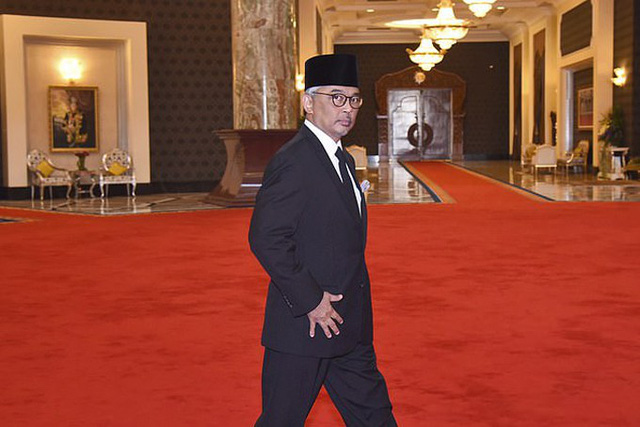 Ông Sultan Ahmad Shah - vua mới của Malaysia. Ảnh: AP.