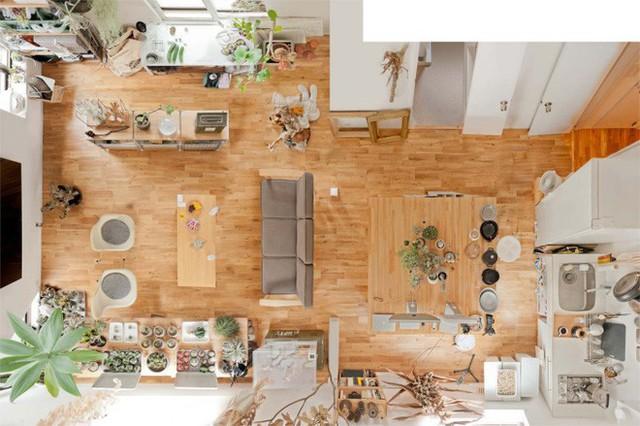 Không gian sống vô cùng giản dị và bình yên của cặp vợ chồng trẻ người Nhật.