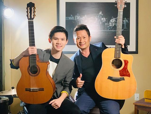 Bằng Kiều và con trai cả Beckham Nguyễn.