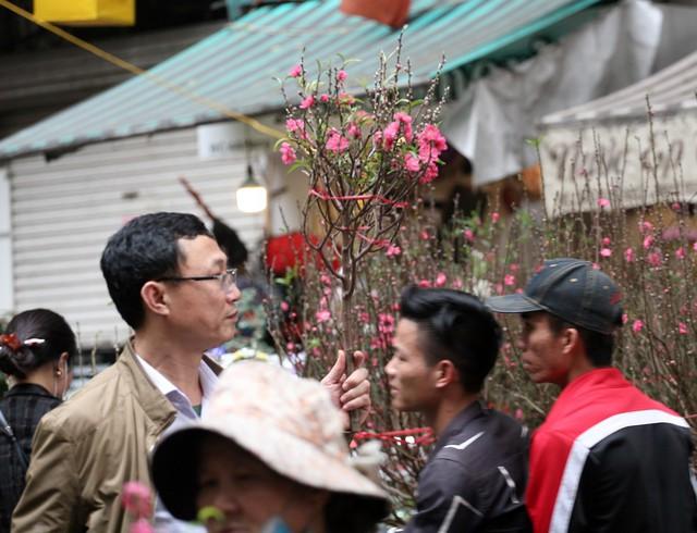 Hầu hết ai đi chợ Hàng Lược cũng đều mua cho mình một vài món hàng, người cành đào người cây quất hay các loại cây cảnh khác.