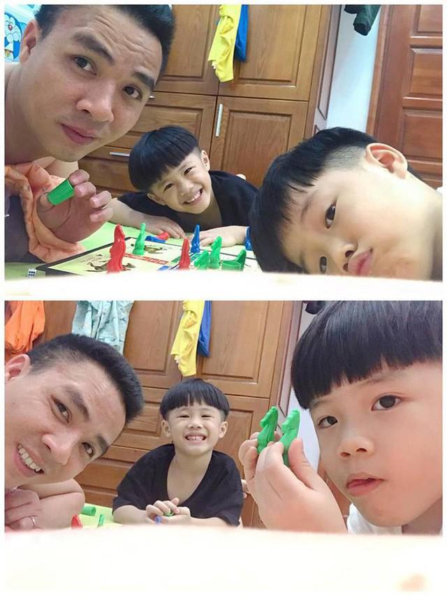Mạnh Hùng có mối quan hệ khá thân thiết với Bon - Ga (tên thân mật của 2 cậu con trai riêng Hoàng Linh).
