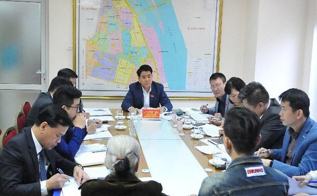 Chủ tịch UBND TP. Hà Nội trong một buổi tiếp dân. Ảnh: An ninh thủ đô.
