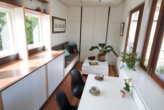 Ngôi nhà nhỏ có đủ không gian cho hai người.