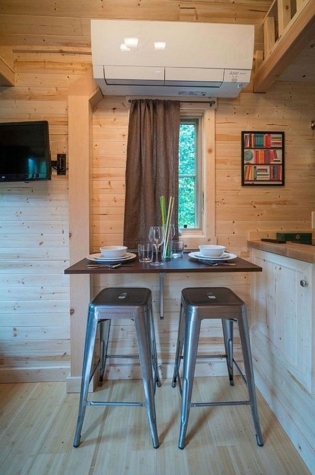 Sử dụng không gian nhỏ cho cả bữa sáng và bữa tối một cách dễ dàng!