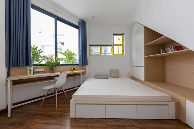 Các phòng ngủ đơn giản nhưng tinh tế.