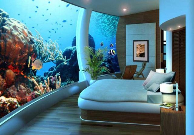 8. Hay đơn cử là phòng ngủ của bạn, nếu như được nằm ngủ trong đại dương mênh mông xanh biếc thì bạn nghĩ sao?