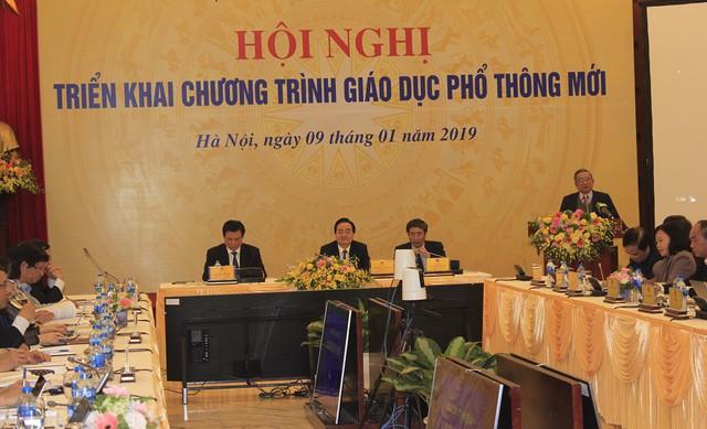 Hội nghị triển khai chương trình giáo dục phổ thông mới do Bộ GD&ĐT tổ chức chiều 9/1. Ảnh: Q.Anh