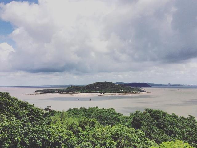 Đảo Dấu Đồ Sơn nhìn từ trên cao. Ảnh: TL