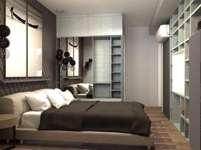 Trong phòng của Hương Giang Idol, KTS đã thiết kế hệ tủ lớn nhằm đáp ứng nhu cầu lưu trữ của cô.