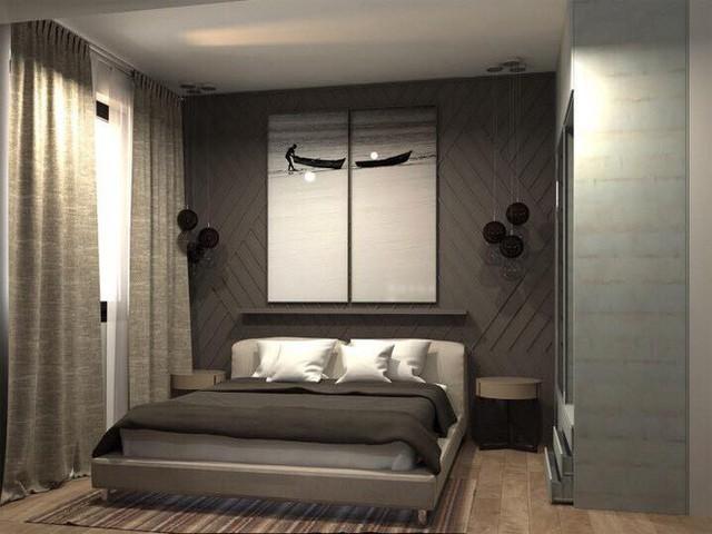 Mẫu giường ngủ đơn giản, êm ái.