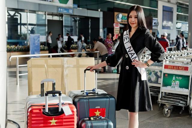 Sáng 9.1 Lê Âu Ngân Anh đã lên đường tham dự Miss Intercontinental 2019