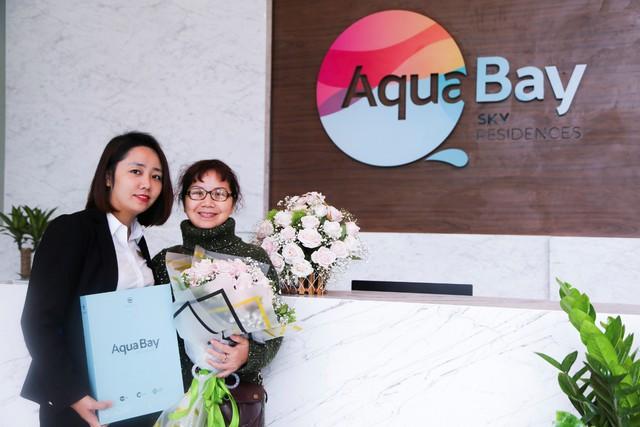 Bà Bùi Minh Yến, cư dân Aqua Bay đầu tiên nhận nhà mới