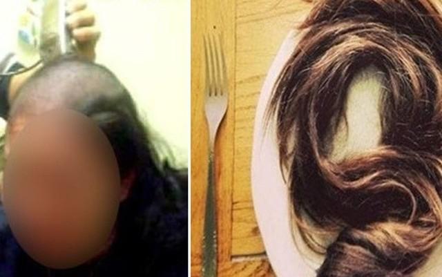 Cạo trọc đầu vợ khi phát hiện một sợi tóc trong bữa sáng - Ảnh 1.