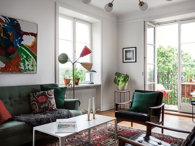 Căn hộ rộng 75m² được trang trí với sắc màu tươi vui, mát mắt quá đỗi phù hợp cho nhà có trẻ nhỏ - Ảnh 1.