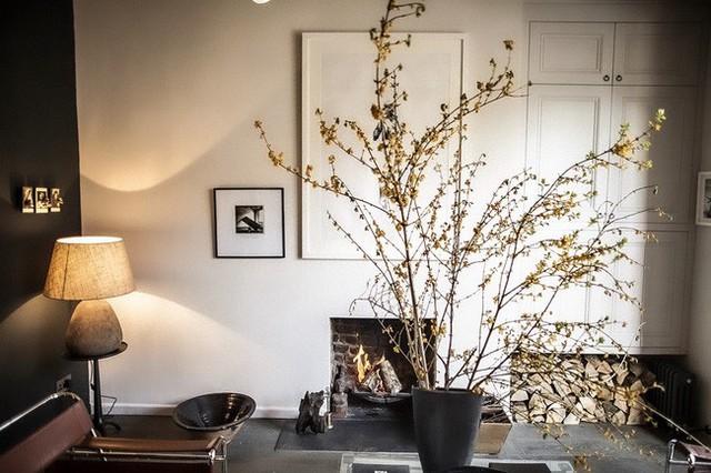 Căn hộ vừa ấm cúng lại vừa sang trọng được trang trí đậm mùa thu vàng - Ảnh 3.