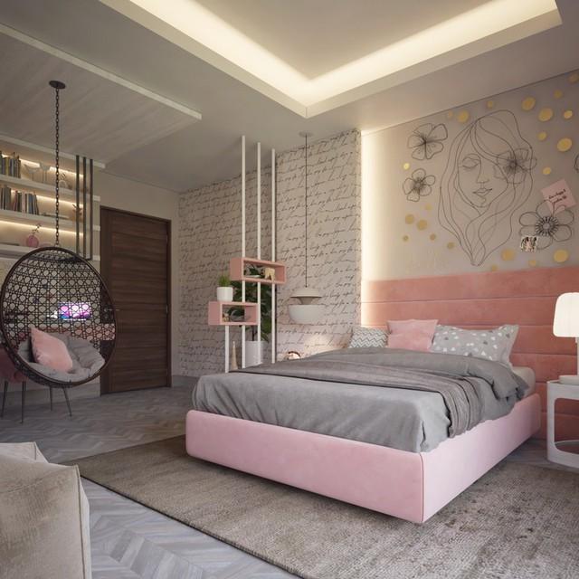 Phòng ngủ đẹp như tranh mà bất cứ cô gái nào cũng mê mẩn - Ảnh 2.