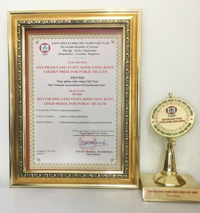 """BoniHappy lần thứ 3 nhận giải thưởng """"Sản phẩm vàng vì sức khỏe cộng đồng"""" - Ảnh 2."""