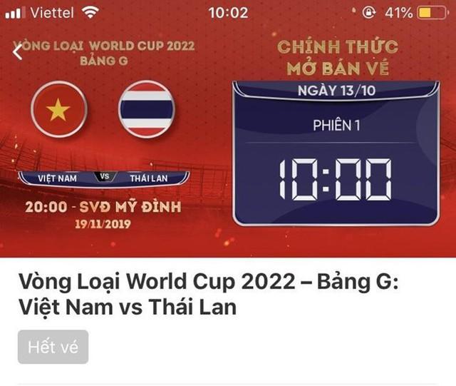 Tỷ lệ chọi mua vé trận Việt Nam - Thái Lan cao hơn chọi thi Đại học - Ảnh 2.