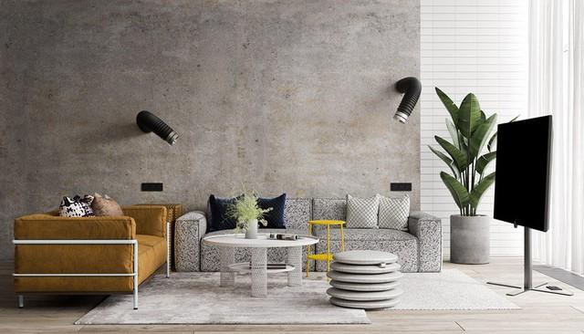 Căn hộ đầy màu sắc mang đậm phong cách công nghiệp, phòng khách có tận 2 chiếc bàn trà vẫn đẹp lung linh - Ảnh 2.