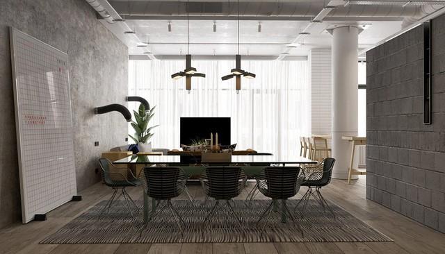 Căn hộ đầy màu sắc mang đậm phong cách công nghiệp, phòng khách có tận 2 chiếc bàn trà vẫn đẹp lung linh - Ảnh 3.