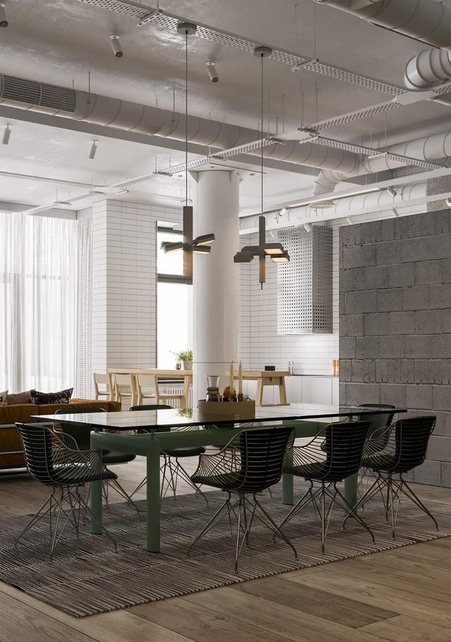 Căn hộ đầy màu sắc mang đậm phong cách công nghiệp, phòng khách có tận 2 chiếc bàn trà vẫn đẹp lung linh - Ảnh 4.