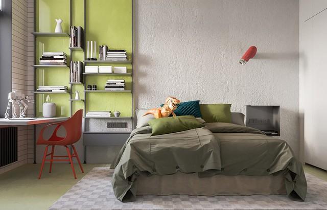 Căn hộ đầy màu sắc mang đậm phong cách công nghiệp, phòng khách có tận 2 chiếc bàn trà vẫn đẹp lung linh - Ảnh 6.