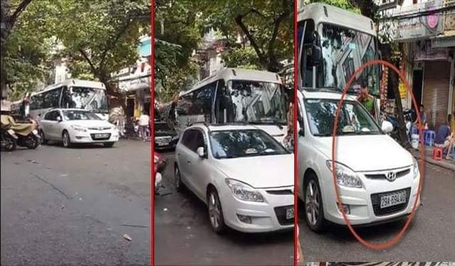 Hà Nội: Công an phường bị phạt 1 triệu đồng vì đỗ xe dưới lòng đường - Ảnh 1.