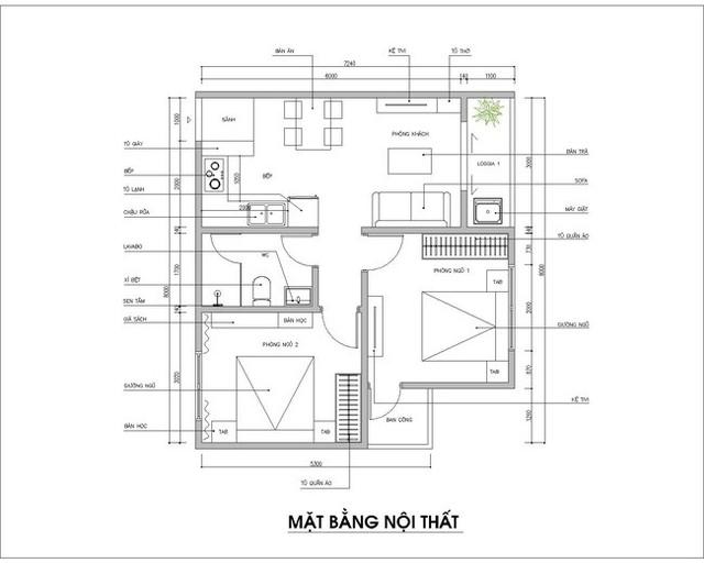 Thiết kế nội thất phù hợp giúp cho căn hộ 54m² có tổng chi phí 145 triệu đồng - Ảnh 1.