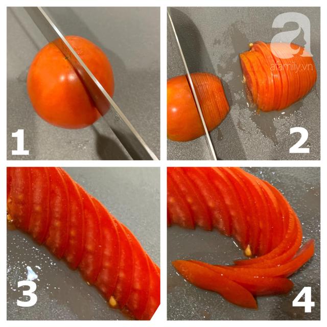 2 cách tạo hình hoa hồng từ cà chua dễ không tưởng - Ảnh 5.