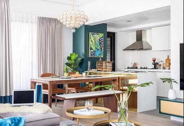 Những cách bài trí bàn ăn với đồ nội thất vô cùng nổi bật cho không gian bếp của nhà chung cư  - Ảnh 1.