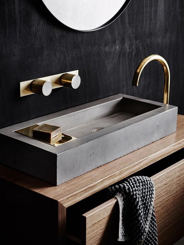 Bồn rửa tay xi măng - lựa chọn tuyệt hảo mà mọi gia đình không nên bỏ lỡ - Ảnh 8.